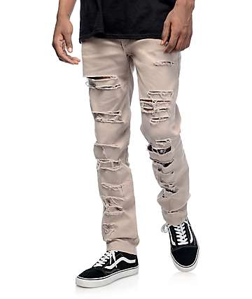 Rustic Dime Shredded Stone Jeans