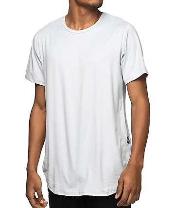 Rustic Dime Silver camiseta alargada de ante falso