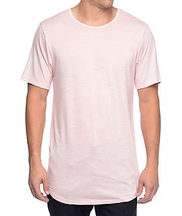 Rustic Dime Skinny Stripe Pink Long T-Shirt