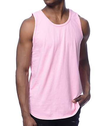 Rustic Dime Solid Pink Long Tank