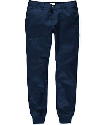 Rustic Dime Sunset Navy Twill Jogger Pants