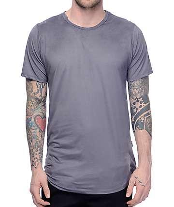 Rustic Dime camiseta alargada de ante en color carbón