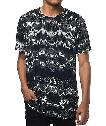 Rustic Dime camiseta con efecto tie dye en negro