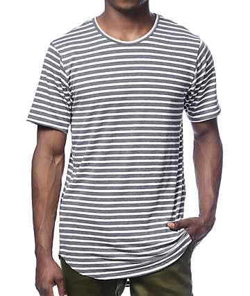 Rustic Dime camiseta larga gris rayada