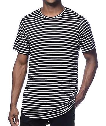 Rustic Dime camiseta larga negra rayada
