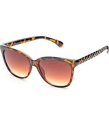 Rymes Tortoise Shell Cateye Sunglasses