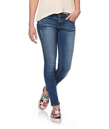 S.O.N.G. Curvy Diva Medium Wash Skinny Jeans