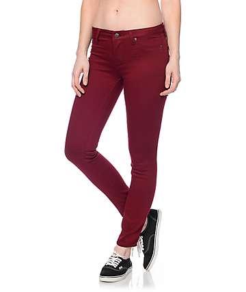 S.O.N.G. Oh So Skinny Burgundy Skinny Jeans