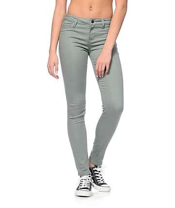 S.O.N.G. Oh So Skinny Olive Skinny Jeans