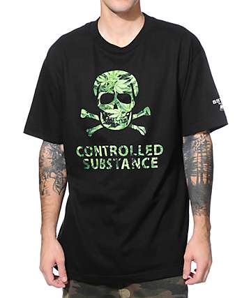 SSUR Controlled Substance Black T-Shirt