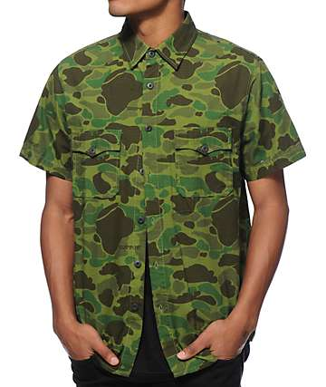 SSUR Officer Camo Button Up Shirt