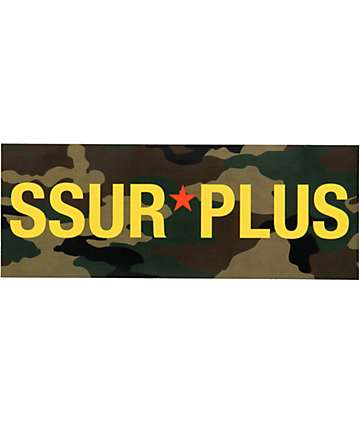 SSUR PLUS Camo Sticker