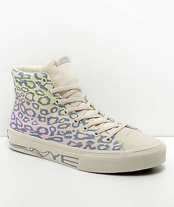 STRAYE Venice Rainbow Cheetah Print Skate Shoes