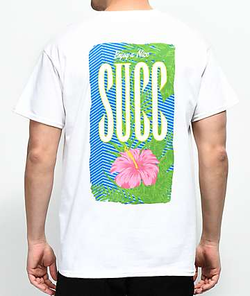SUCC Nice Succ Flower White T-Shirt