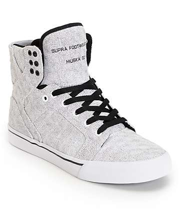 SUPRA Skytop White Pavement Canvas Shoes