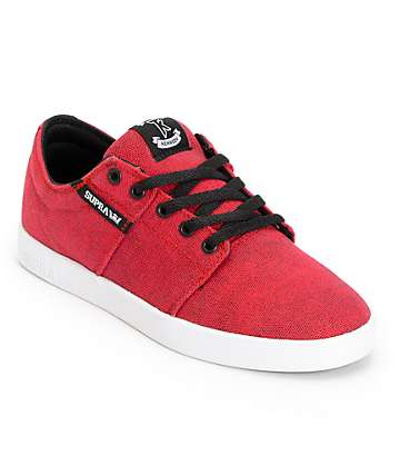 SUPRA Stacks Red Pavement Canvas Shoes