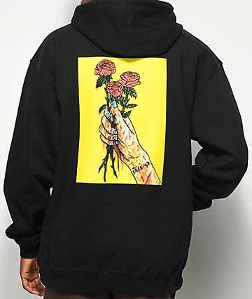 Salem7 Roses Black Hoodie