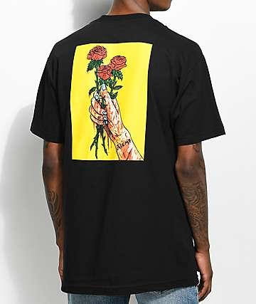 Salem7 Roses Black T-Shirt