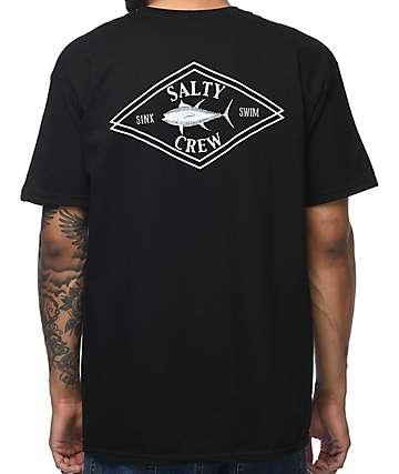 Salty Crew Ahi Diamond camiseta negra