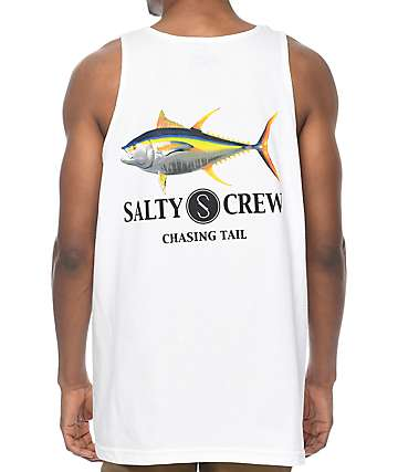 Salty Crew Ahi camiseta blanca sin mangas