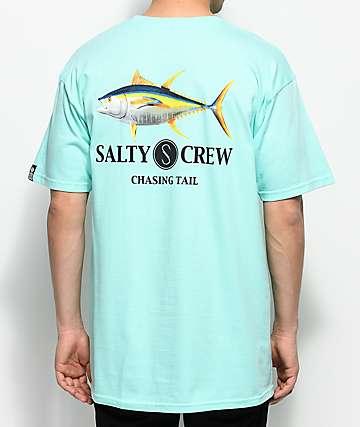 Salty Crew Ahi camiseta en color menta