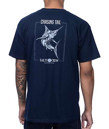 Salty Crew Chasing Marlin Navy T-Shirt