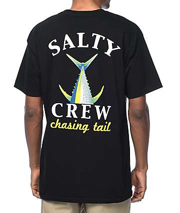 Salty Crew Chasing Tail Black T-Shirt
