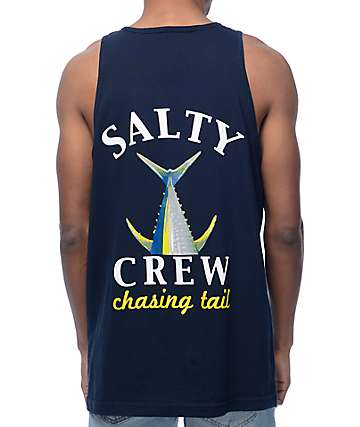 Salty Crew Chasing Tail Navy Tank Top