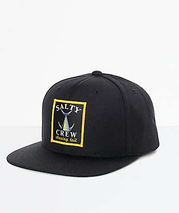 Salty Crew Chasing Tail Patch gorra snapback en negro