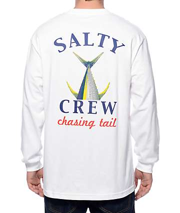 Salty Crew Chasing Tail White Long Sleeve T-Shirt