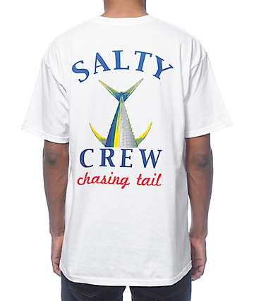 Salty Crew Chasing Tail White T-Shirt