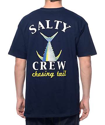 Salty Crew Chasing Tail camiseta en azul marino