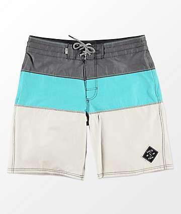 Salty Crew Fathom 2 Seafoam Board Shorts