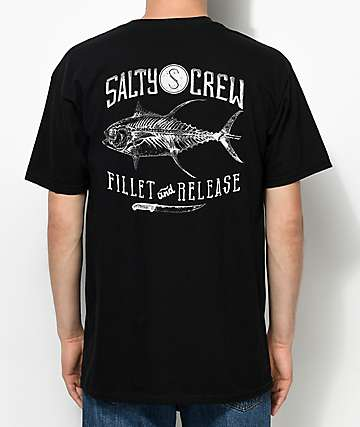 Salty Crew Fillet & Release Black T-Shirt
