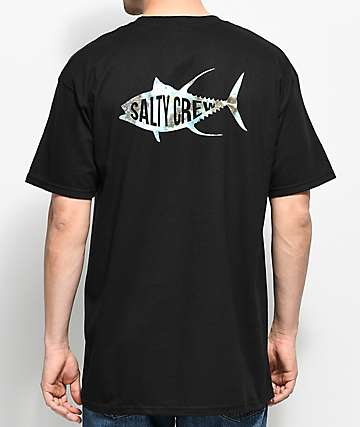 Salty Crew Fisher Black T-Shirt