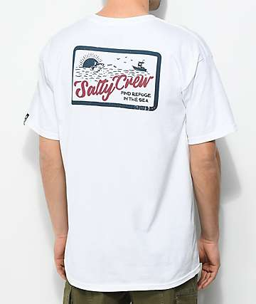 Salty Crew Foamer White & Teal T-Shirt