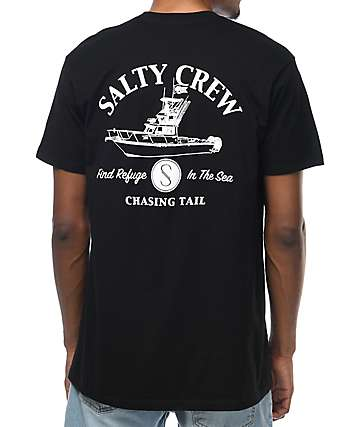 Salty Crew Pinnacle Boat Black T-Shirt