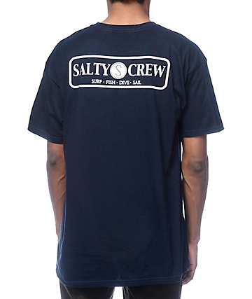 Salty Crew Rudder Navy T-Shirt