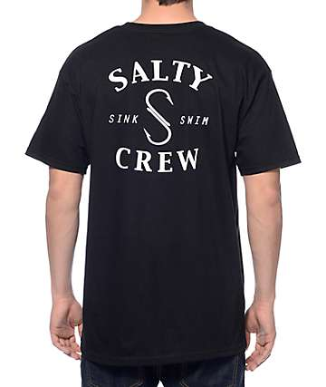 Salty Crew S Hook Black T-Shirt