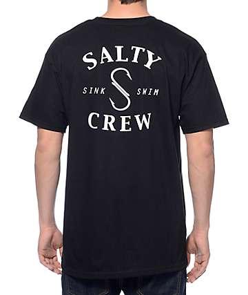 Salty Crew S Hook Black T-Shirt