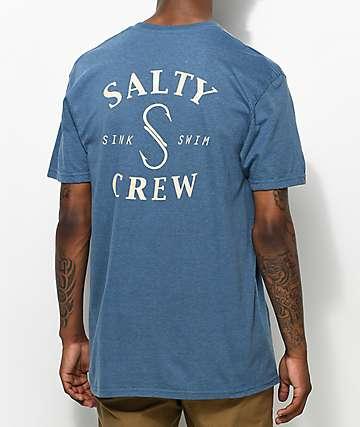 Salty Crew S Hook camiseta azul