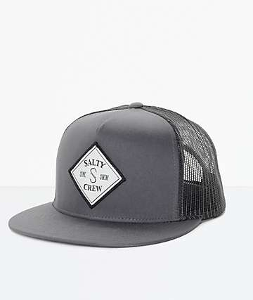 Salty Crew Tippet Grey & Black Trucker Hat