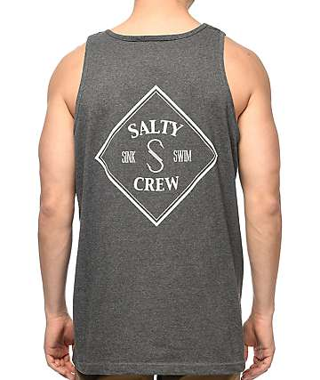 Salty Crew Tippet Heather Charcoal Tank Top