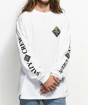 Salty Crew Tippet White & Camo Long Sleeve T-Shirt