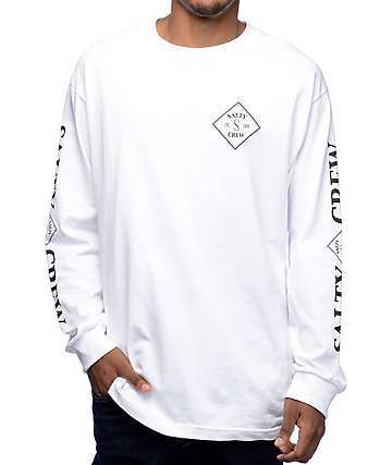 Salty Crew Tippet White Long Sleeve T-Shirt