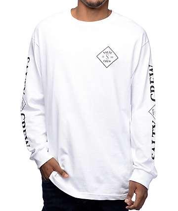 Salty Crew Tippet camiseta de manga larga en blanco