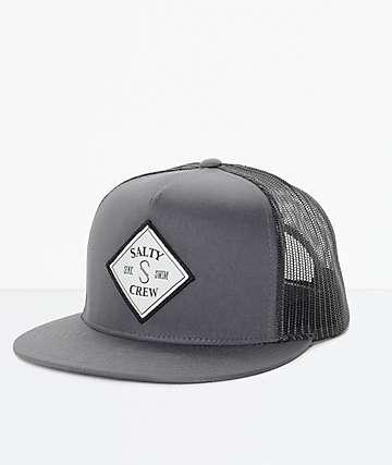 Salty Crew Tippet gorra trucker en gris y negro