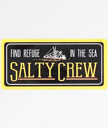 Salty Crew Trawler Black Sticker