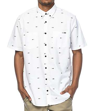 Salty Crew Tuna White Button Up Woven Shirt