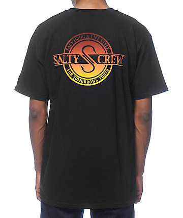 Salty Crew Waxed Black T-Shirt